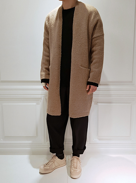 long cardigan -beige