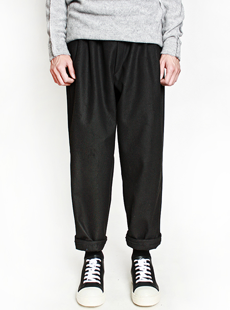 woolen wide pants
