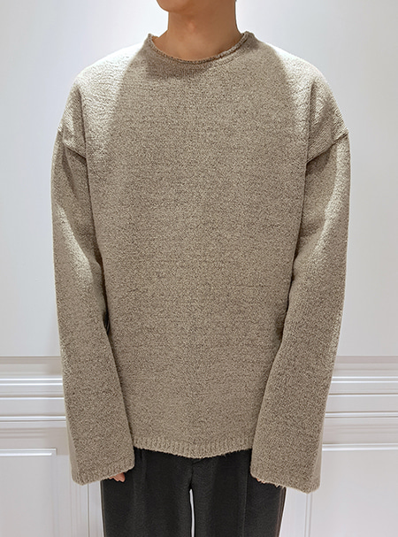 over fit knit- Oatmeal