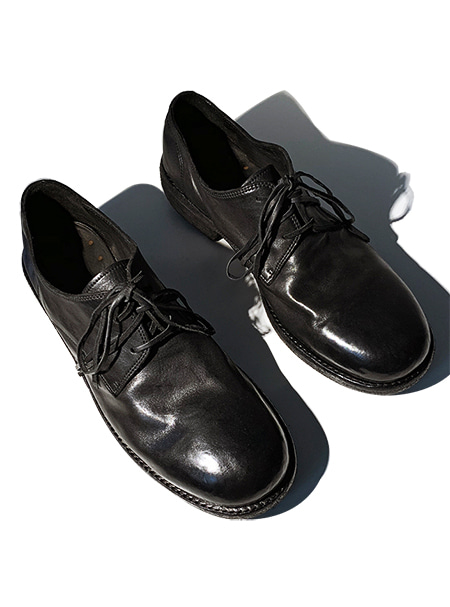 GOLEMETH 006 . Artisan Derby Black horse leather - ORDER MADE