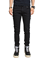 washed black skinny jean