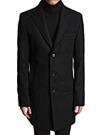 slim fit wool single coat