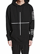 cross hooded top