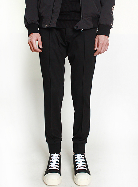 slim fit banding trousers