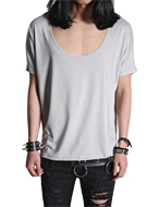 Deep U-neck 1/2 top
