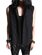 daft_ lace cut out vest