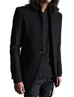mandarin one button blazer