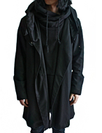 big hooded cape coat