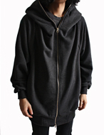 big hooded zip-up