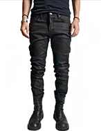 dry black coated jean