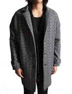 over fit wool single coat