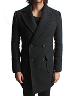wool twill double coat