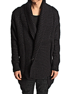 wool knit shawl cardigan